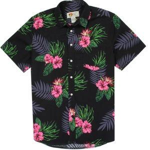"🏖Men's ""Hawaiian"" Tropical Cotton Shirt. NWT"